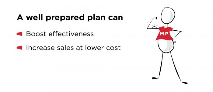 A well prepared plan can boost effectiveness and increase sales at lower cost.