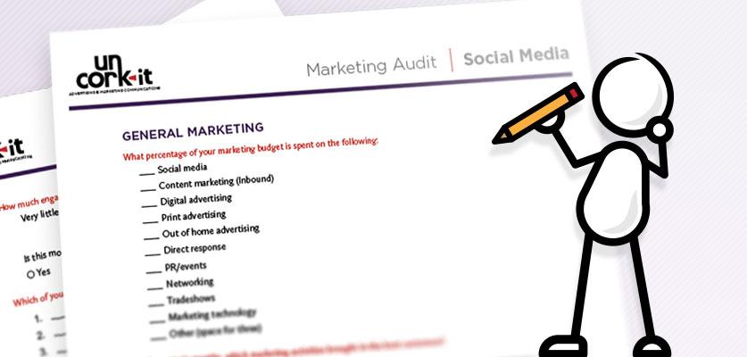 Image of marketing audit document